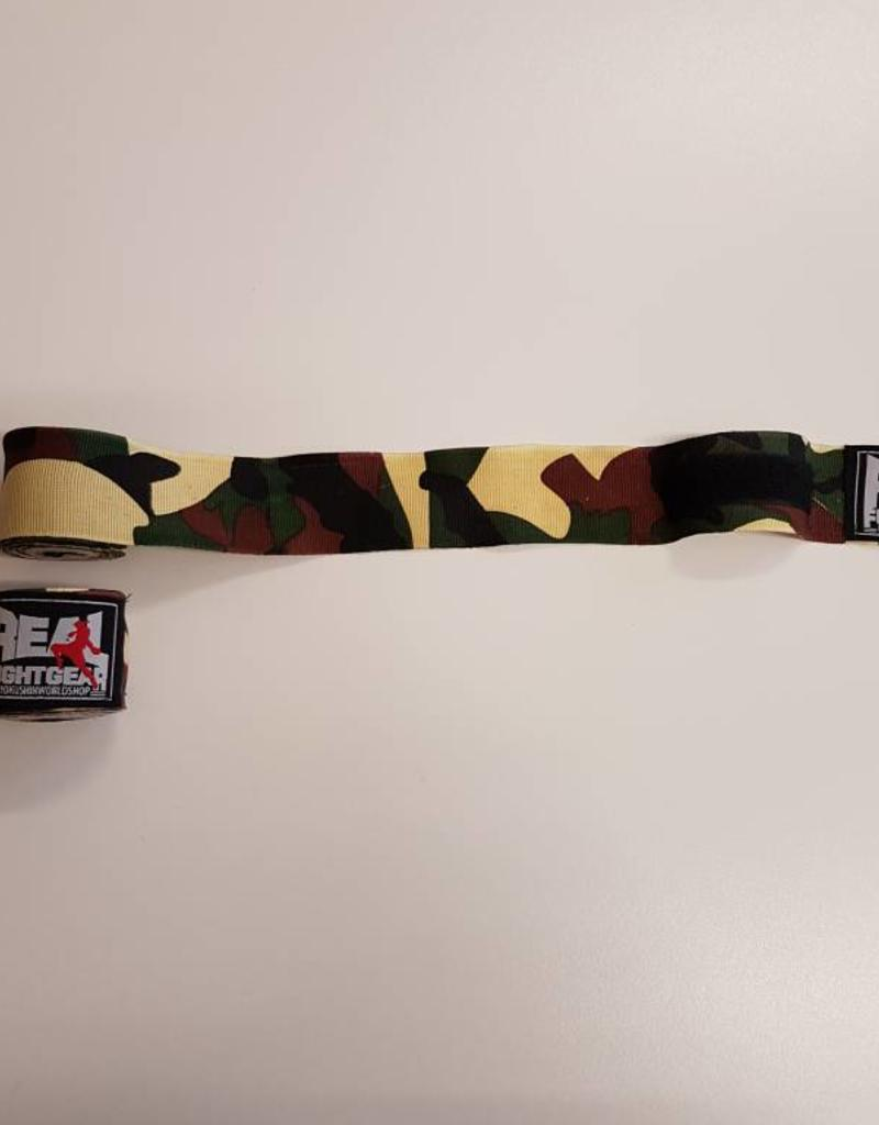 REAL FIGHTGEAR (RFG) Real Fightgear Hand wrapping - 250cm Camo Green