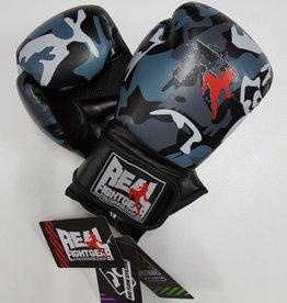 REAL FIGHTGEAR (RFG) Box handschoen - Camo Grijs/Zwart