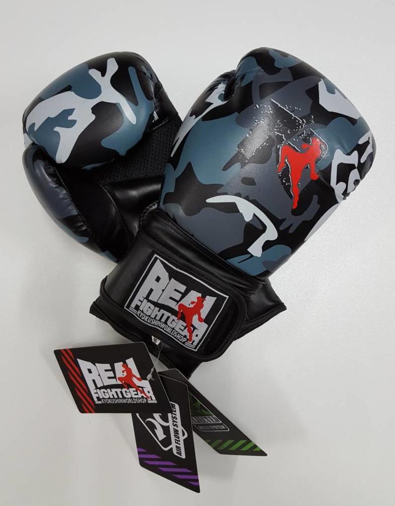 REAL FIGHTGEAR (RFG) Real Fightgear Boxing Gloves - Camo Grey/Black