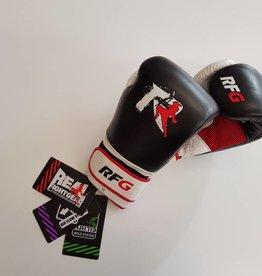REAL FIGHTGEAR (RFG) Real Fightgear BXBW-1 Boks handschoenen - Zwart/Wit