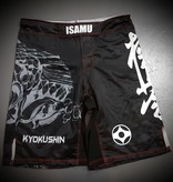 ISAMU 勇ISAMU KYOKUSHIN KARATE FIGHT SHORTS-RYUU ZW/GRIJS