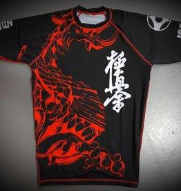 ISAMU 勇ISAMU KYOKUSHIN KARATE FIGHT RASHGUARD-RYUU BLACK/RED | OP=OP
