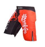 ISAMU 勇ISAMU KYOKUSHIN FIGHT SHORTS - Black/Red | While supplies last