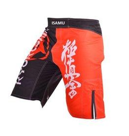 ISAMU KYOKUSHIN FIGHT BROEK - Black/Red | OP = OP