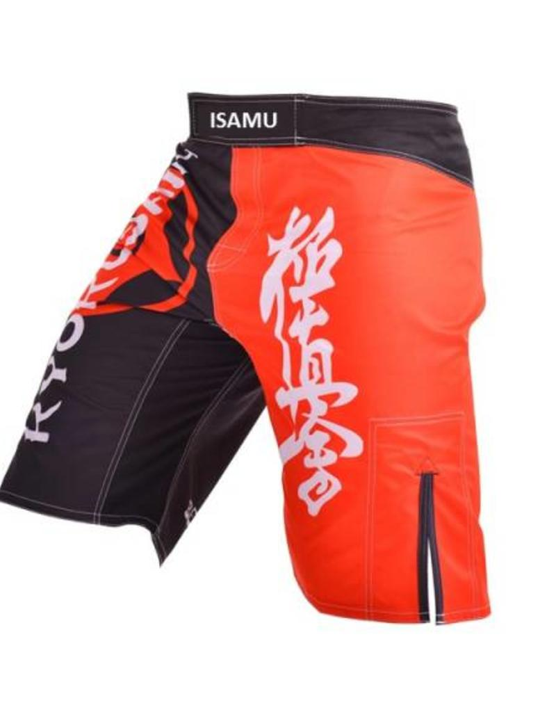 ISAMU 勇ISAMU KYOKUSHIN FIGHT BROEK - Black/Red | OP = OP