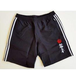 Adidas Adidas T16 Team Short-Black/White stripes-ShinKyokushin kanji and Kokoro Embroidery