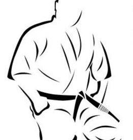 ISAMU Mas.Oyama borduring - Seiza Houding