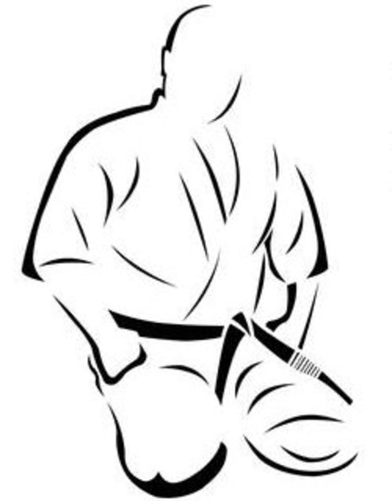 Seiza isamu mas.oyama embroidery - seiza position - kyokushinworldshop