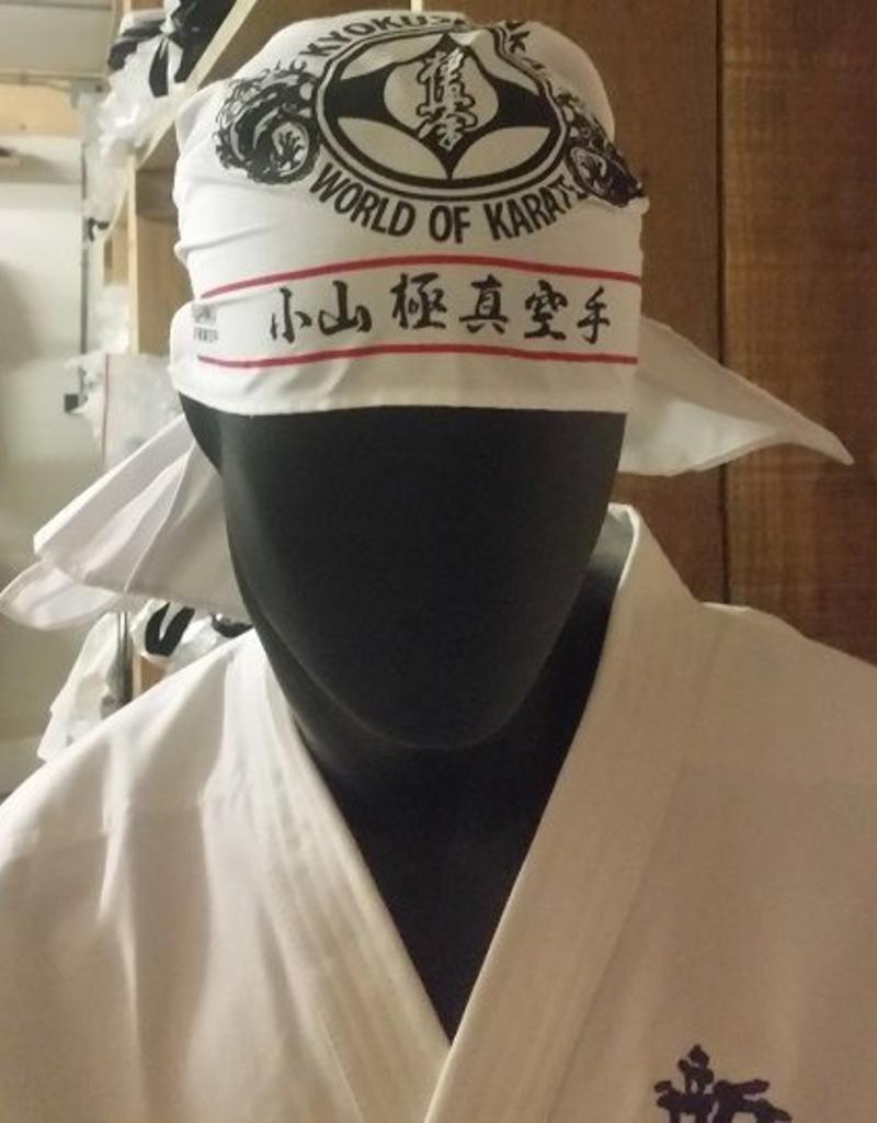 Kyokushin karate hoofddoek/bandana