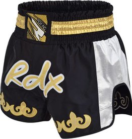 RDX SPORTS Clothing R-7 Muay thai short Silver/black