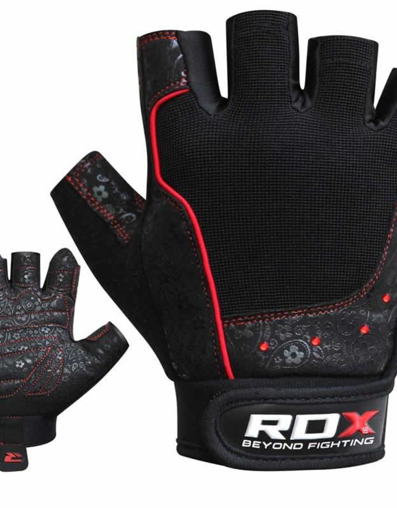 RDX SPORTS Gym glove Armara red stone Woman