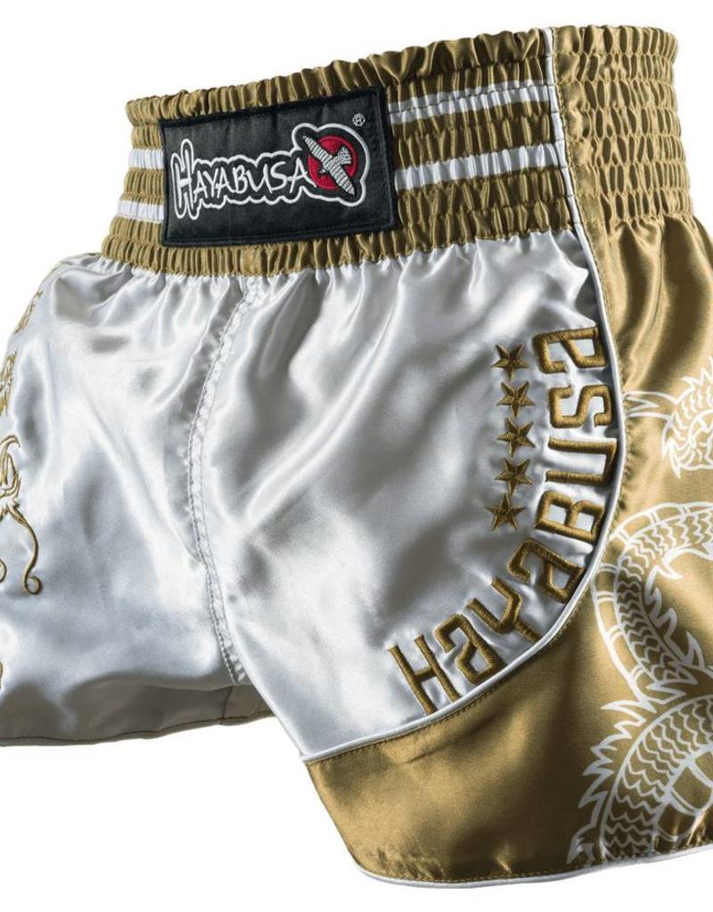 HAYABUSA HAYABUSALion Warrior Muay Thai (Kick)Boks Broekje - Zilver/Goud