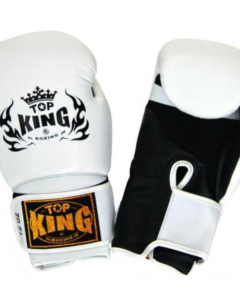 King Professional (Kick)Bokshandschoen Super Air Wit