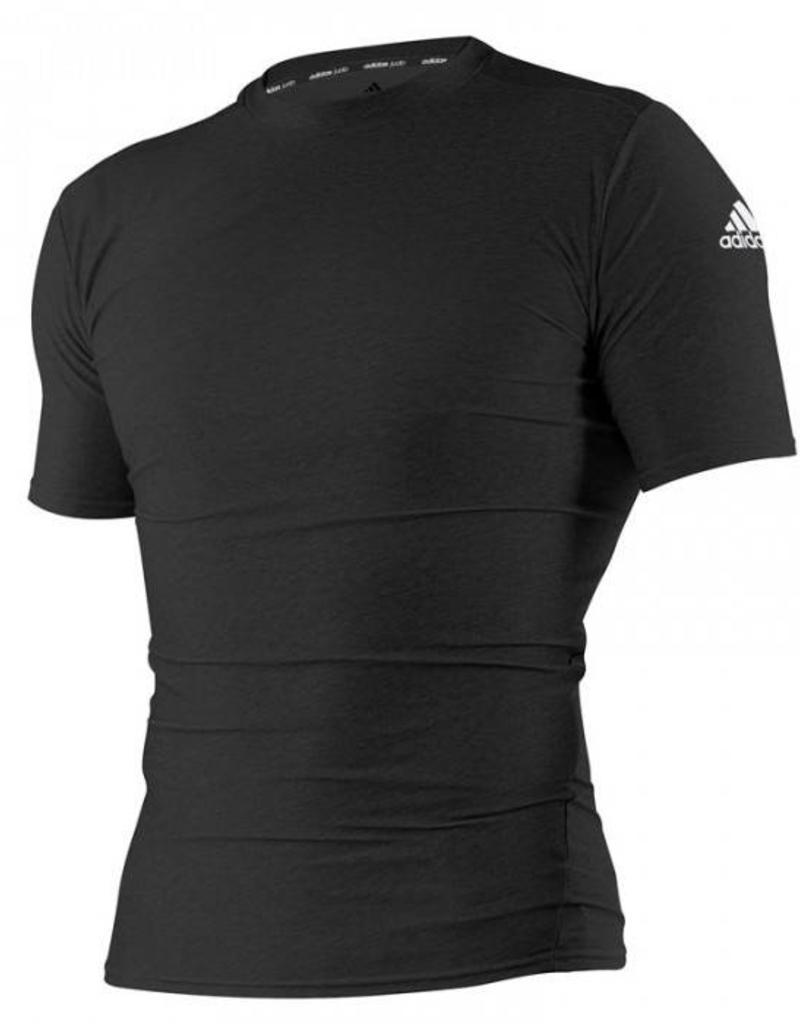 Adidas Rashguard Closefit Korte Mouw Zwart