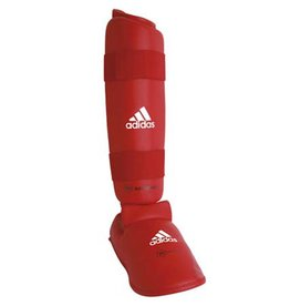Adidas WKF Shin Protector With Removable Foot / Red