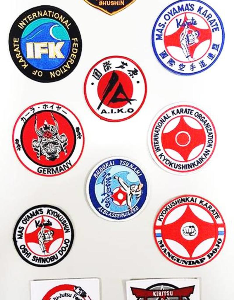 ISAMU Woven Iron On Patches - 8-10cm