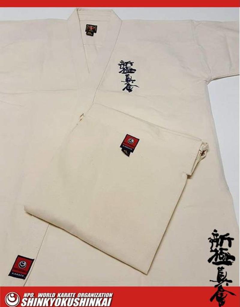 ISAMU ISAMU SHINKYOKUSHINKAI KARATE PREMIUM CLASSIC IVORY GI K7400
