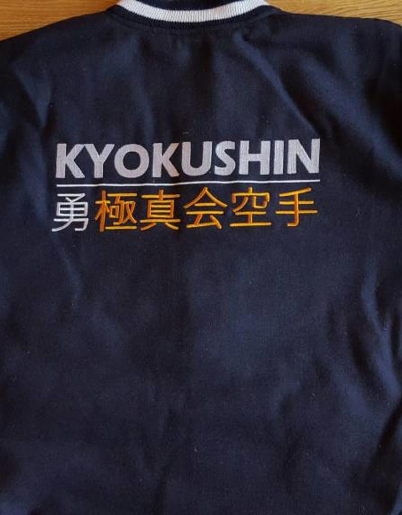 ISAMU 勇ISAMU Kyokushin Power Karate Varsity jas - Navy Blauw