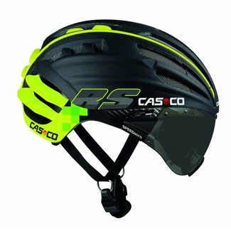Casco Casco SpeedAiro RS Black - Lime (visière vautron)