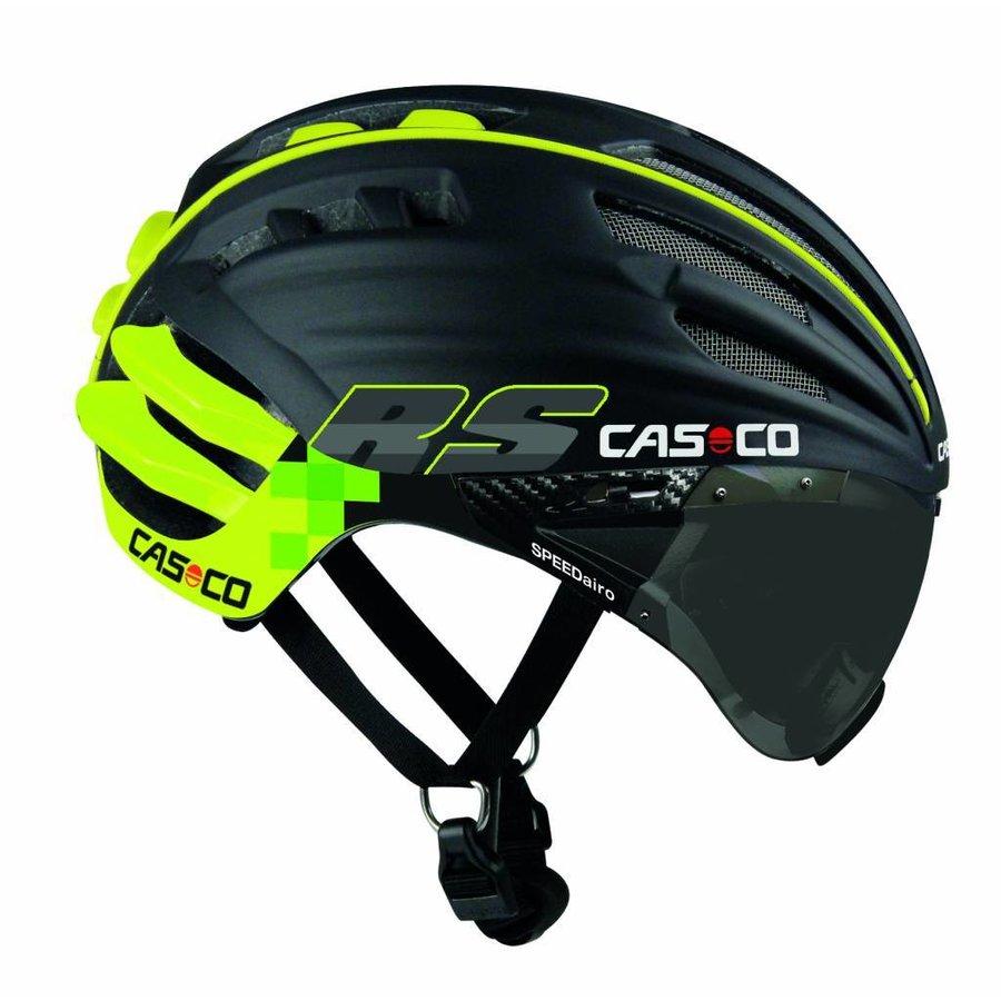 Casco SpeedAiro RS Black - Lime (vautron visor)-1