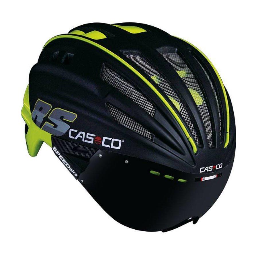Casco SpeedAiro RS Black - Lime (vautron visor)-3