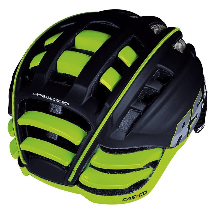 Casco SpeedAiro RS Black - Lime (vautron visor)-4