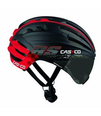 Casco Casco SpeedAiro RS Black - Red (vautron visor)