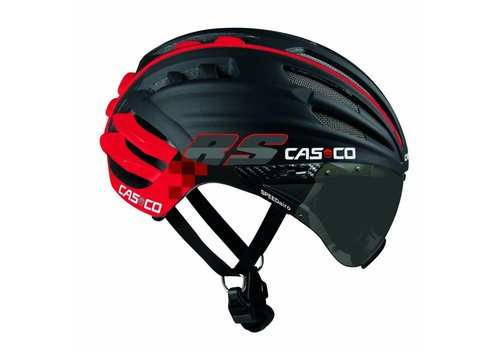 Casco SpeedAiro RS Black - Red (vautron visor)