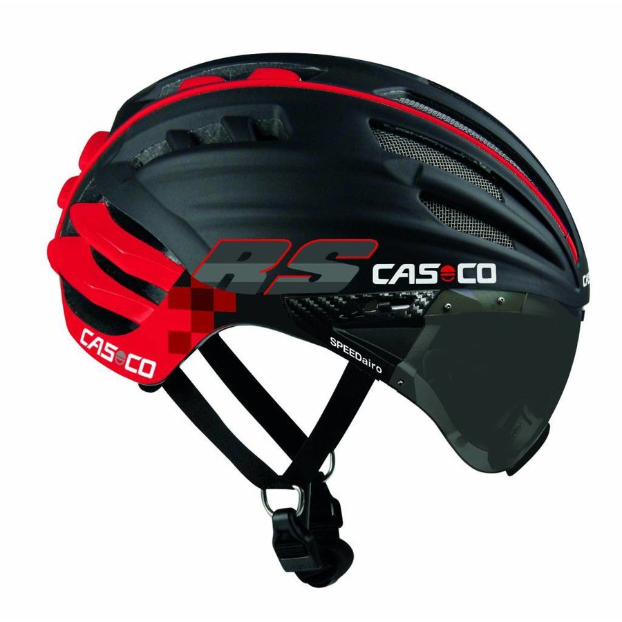 Casco SpeedAiro RS Black - Red (vautron visor)-1