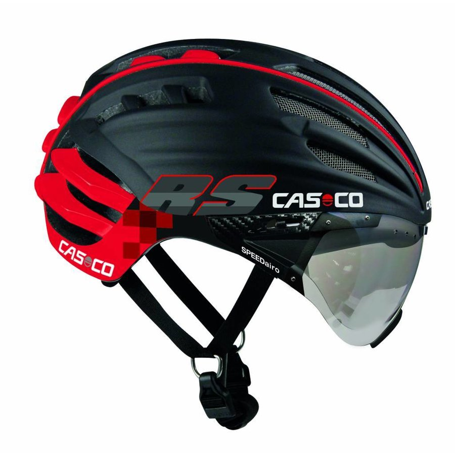 Casco SpeedAiro RS Black - Red (vautron visor)-2