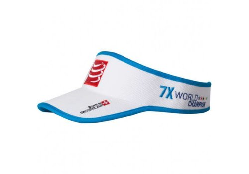 Compressport Visorcap Wit/Blauw
