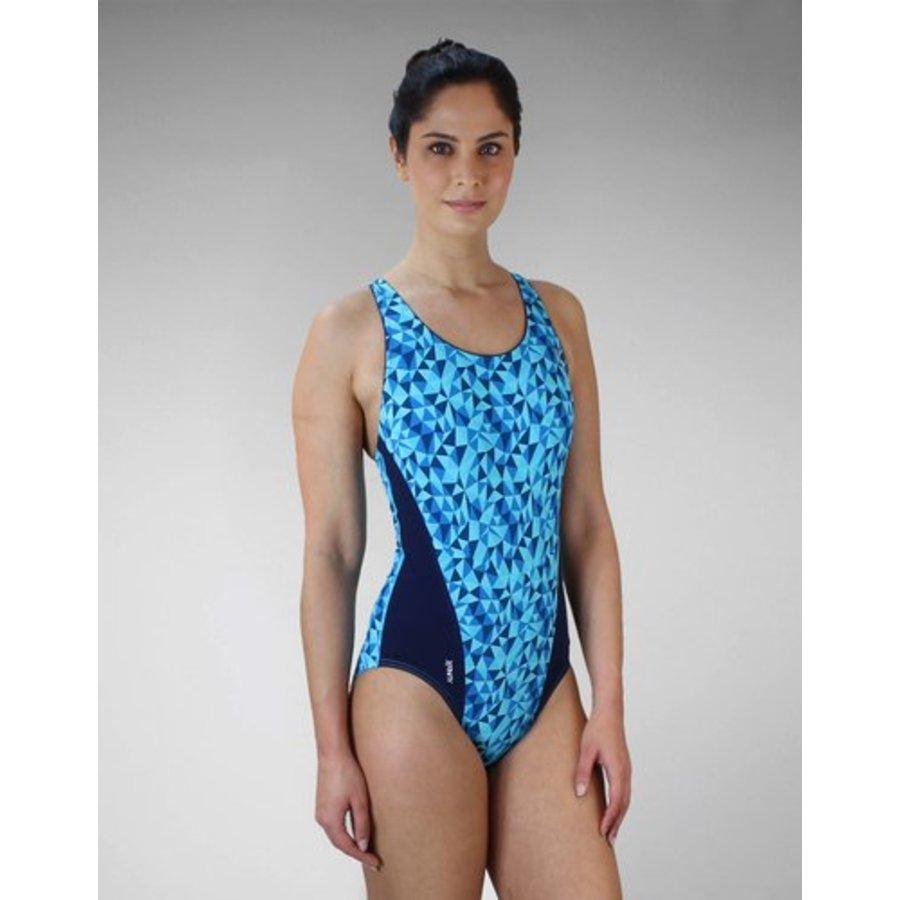 Zone3 Classic Zwempak Blauw Dames-2