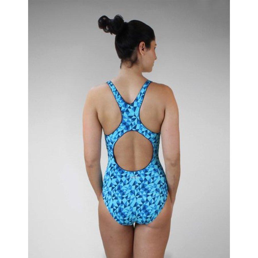 Zone3 Classic Zwempak Blauw Dames-3