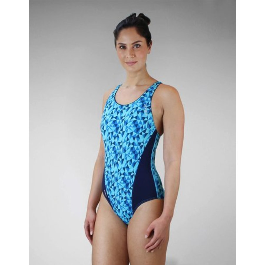 Zone3 Classic Zwempak Blauw Dames-4