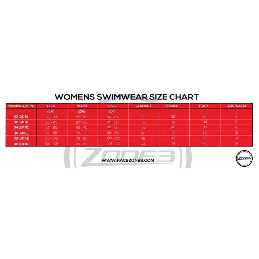 Zone3 Classic Zwempak Blauw Dames-5
