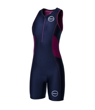 Zone3 Zone3 Activate Trisuit Women (Black / Wine Red)