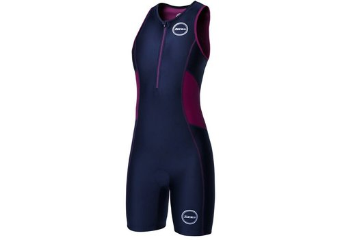 Zone3 Activate Trisuit Women (Black / Wine Red)
