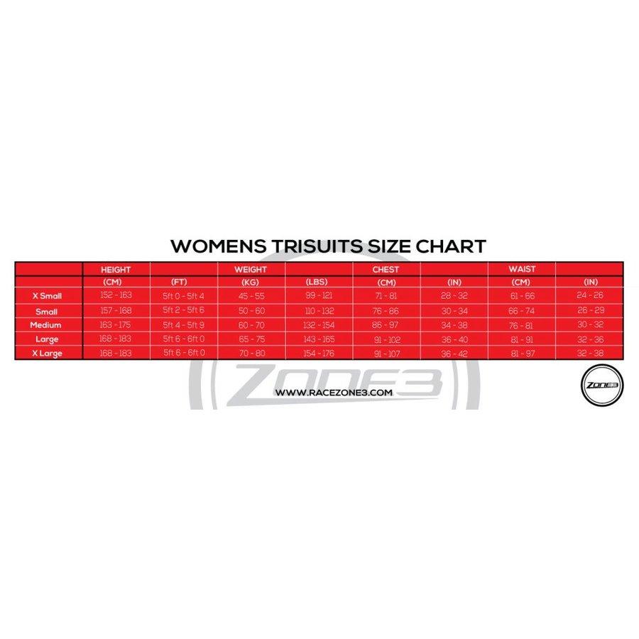 Zone3 Activate Trisuit Women (Black / Wine Red)-2