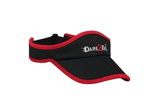 Dare2Tri Visor Zwart Rood