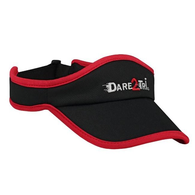 Dare2Tri Dare2Tri Visor Black Red