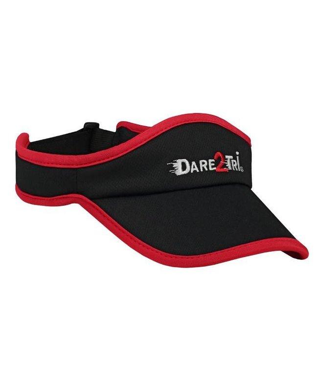 Dare2Tri Dare2Tri Visor Black Red