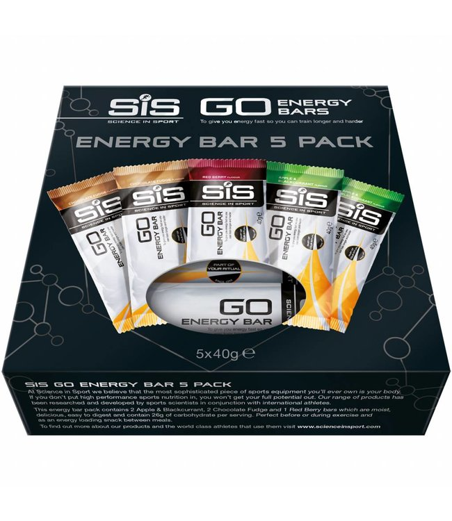 SIS (Science in Sports) SIS Go Energy Variety Pack Energy Bars (5x 40gr)