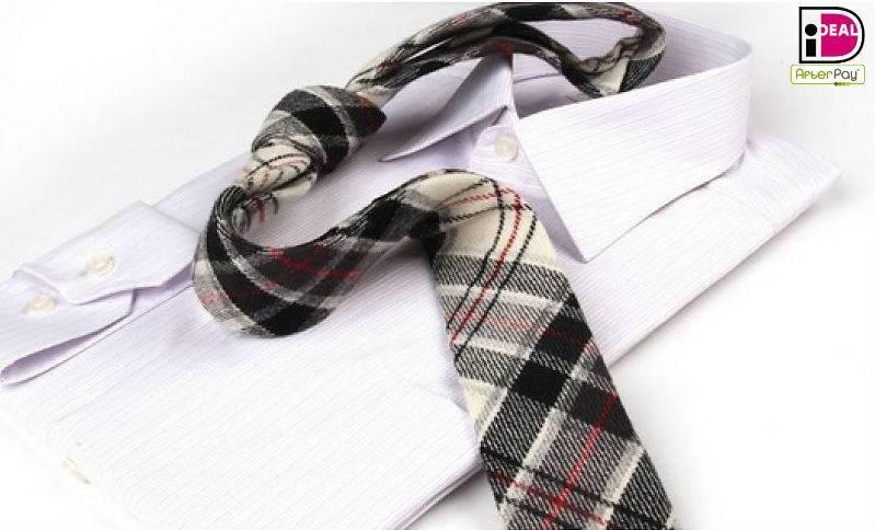 English Fashion Plaid Wool Tie Wit