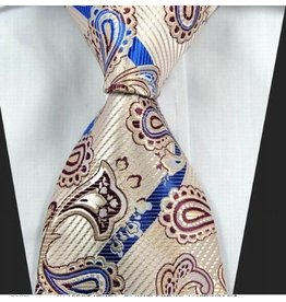 English Fashion Tie Paisley - Cream