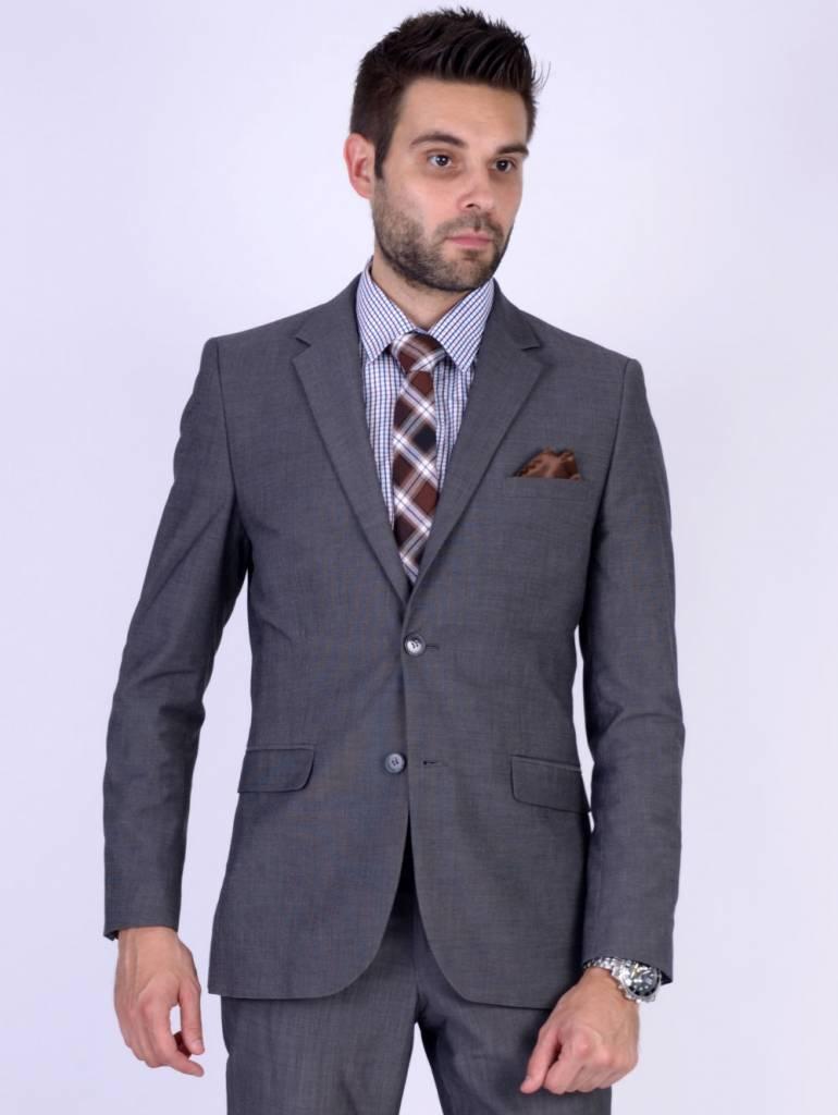 English Fashion Bruine Stropdas - Geruit
