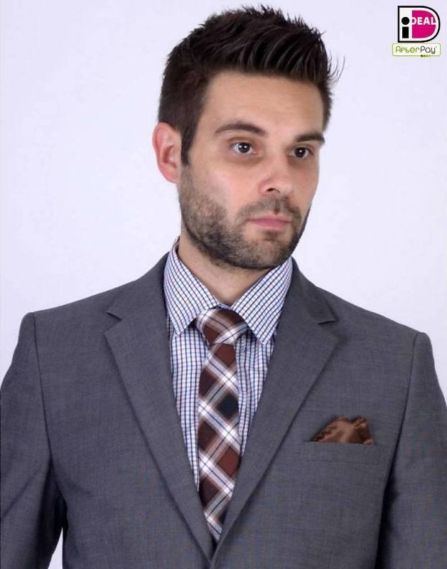 English Fashion Checkered Tie Brown