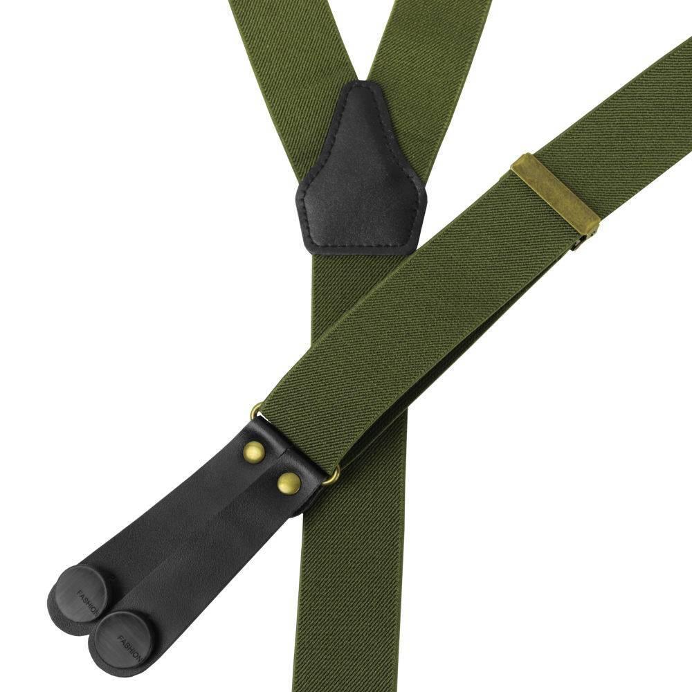 English Fashion bretellen Army Groen