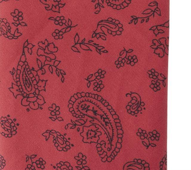 English Fashion pochette rood met Paisley