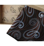 English Fashion Pocket squares brown and blue