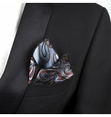 English Fashion pochette Paisley Bruin met Blauw
